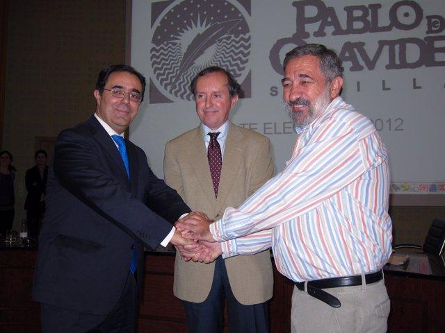 Vicente Guzmán, Luis Pérez-Prat Y Santiago Lago, En El Debate Con Los Profesores