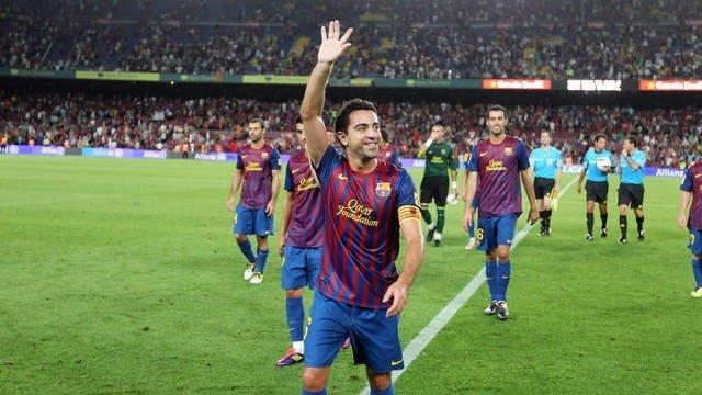 El Jugador Del FC Barcelona Xavi Hernández