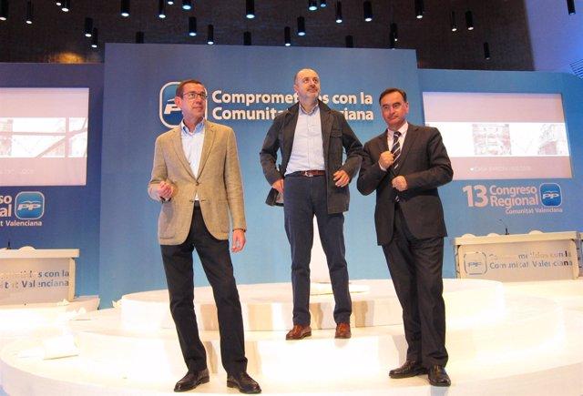 Antonio Clemente (Izq.), David Serra (Centro) Y Miguel Ortiz (Dcha.)