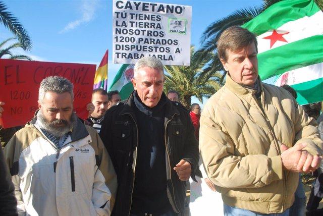 Sánchez Gordillo, Cañamero Y Cayetano De Alba