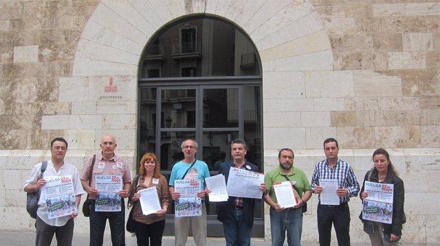 Representantes Sindicales Ante La Generalitat