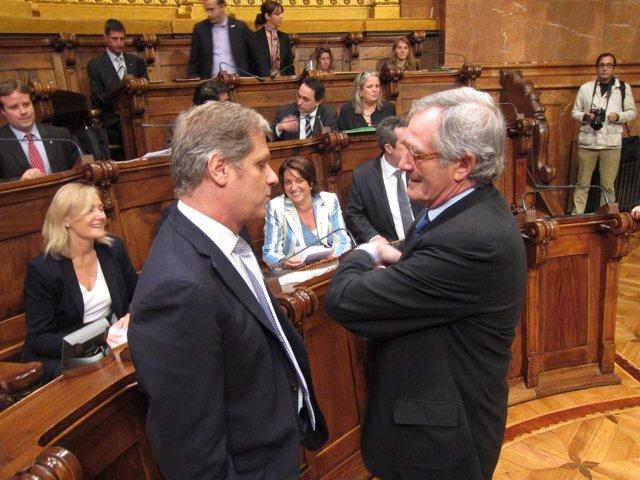 Alberto Fernández (PP) Y El Alcalde De Barcelona, Xavier Trias