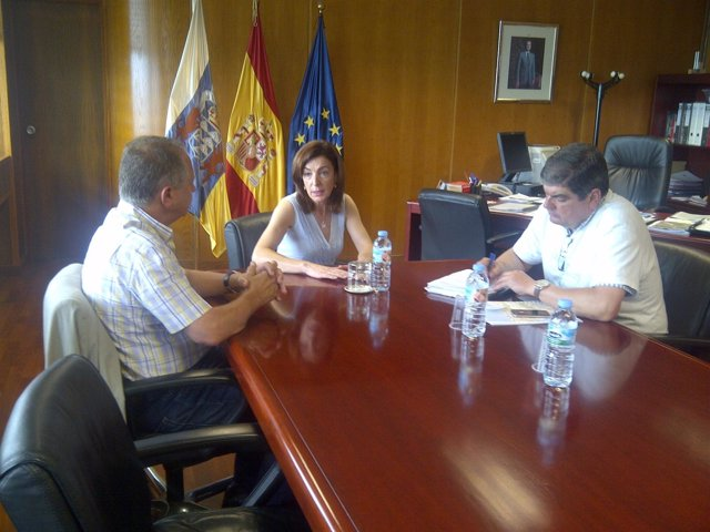 Martín, Ramos Y Rodríguez Durante La Reunión