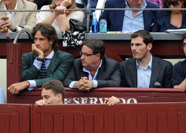 Iker Casillas y Feliciano López en Las Ventas