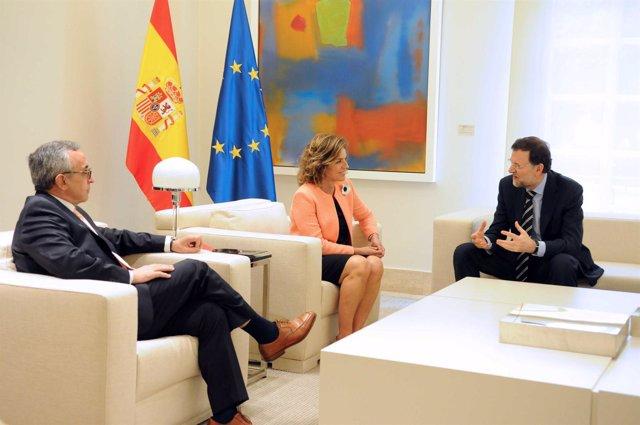 Alejandro Blanco, Ana Botella Y Mariano Rajoy