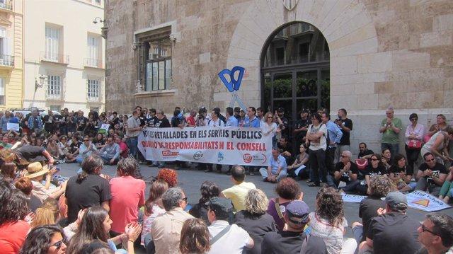 Manifestación Segunda Jornada Huelga Educativa En Valencia