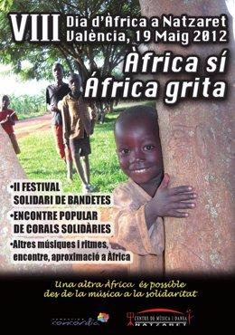Cartel Del VIII Día De África En Nazaret.