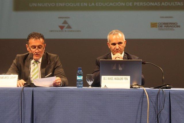 Máximo Ariza Y Manuel Magdaleno En La Inauguración De La Jornada De La DPZ