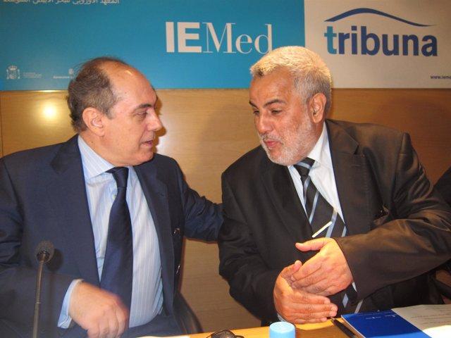 Florensa (Asuntos Exteriores Generalitat) Y A. Benkiran (Jefe Gobierno Marruecos