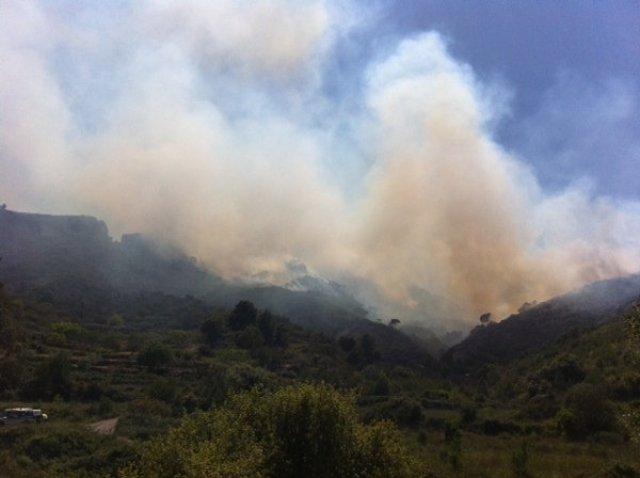 Incendio En Rasquera (Tarragona)