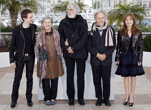Michael Haneke Y El Reparto De 'Amour' En Cannes