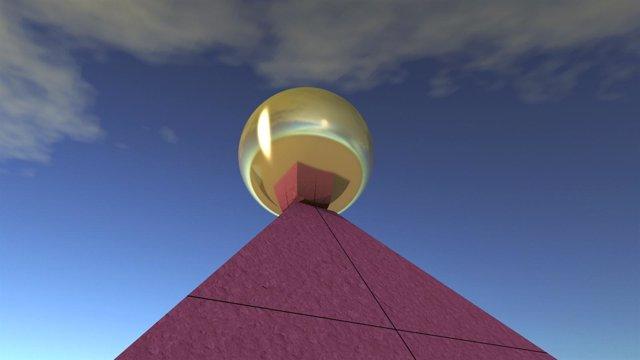 Detalle De La Reconstrucción Virtuaal De La Pirámide De Keops