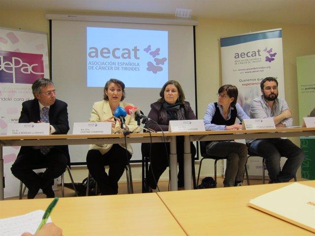 Los Miembros De AECAT Y Las Sociadades Médicas, En La Presentación De La Web
