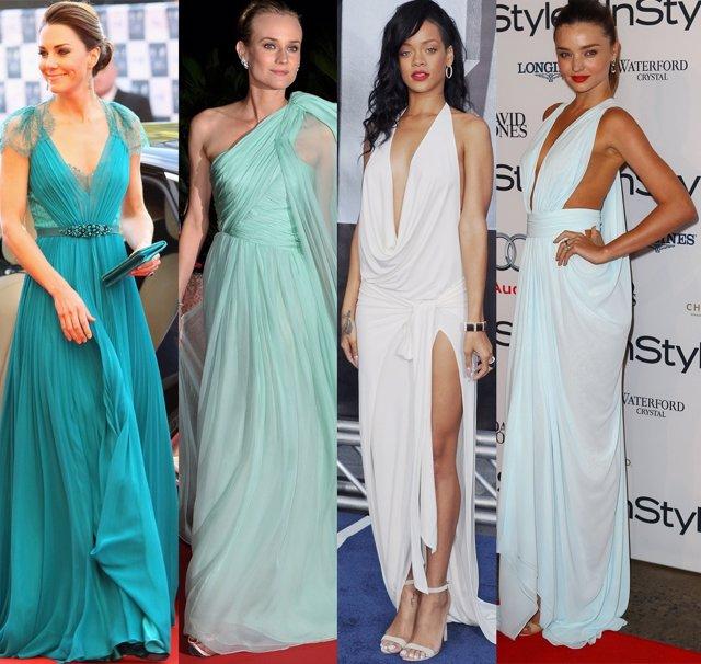 Montaje de Duquesa Catalina de Cambridge, Diane Kruger, Rihanna y Miranda Kerr