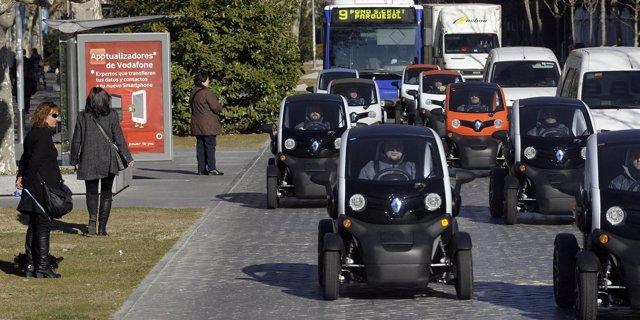 Algunos De Los Renault Twizy Que Han Circulado Por Las Calles De Valladolid