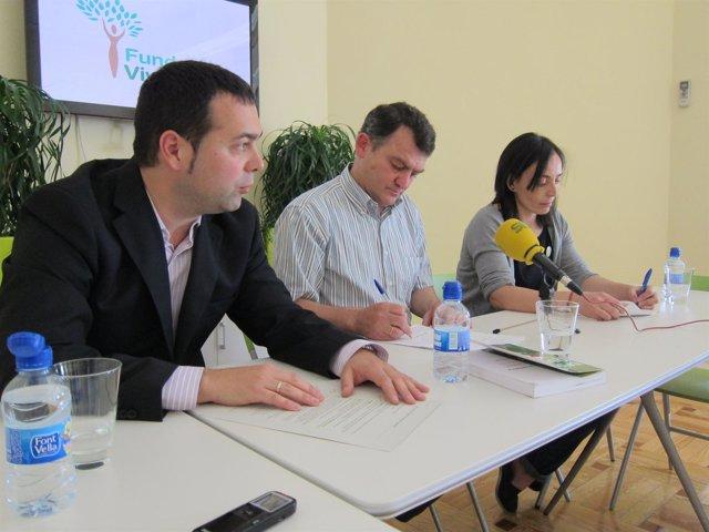 Suárez, De Prada Y Del Río, Durante La Presentación De 'La Epidemia Química'