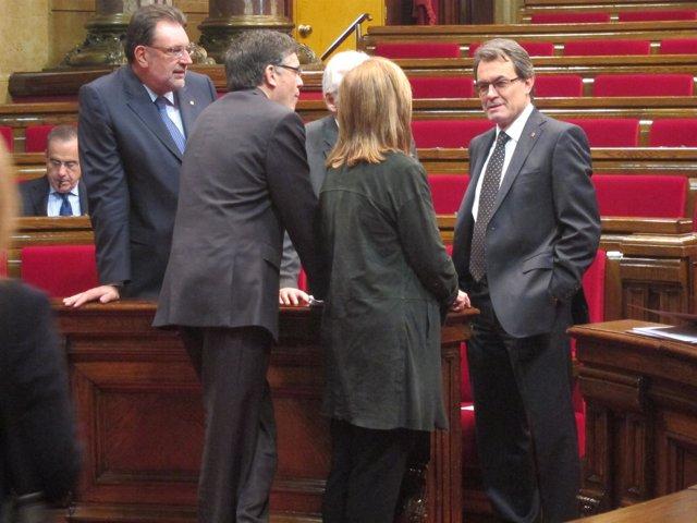 Artur Mas, Reunido Con Consellers En El Parlament