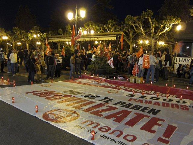Concentración Contra La Reforma Laboral