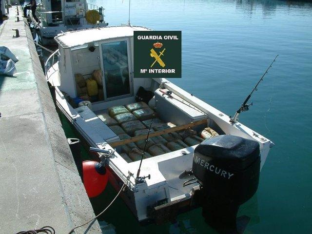 Embarcación con hachís droga