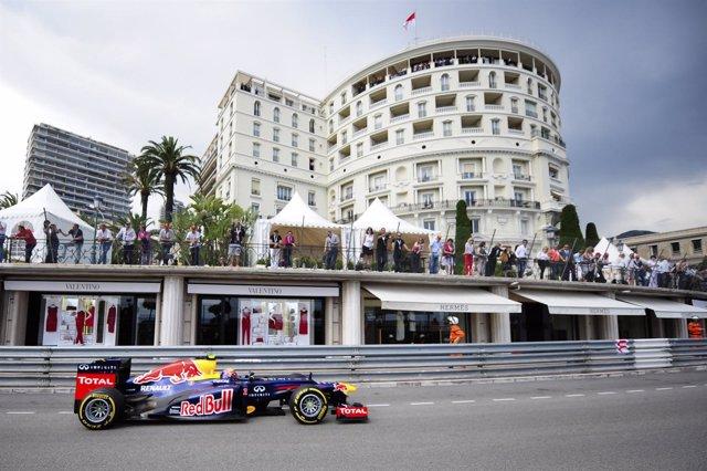 Mark Webber (Red Bull) En Mónaco