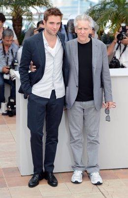 Robert Pattinson y Cronenberg en Cannes