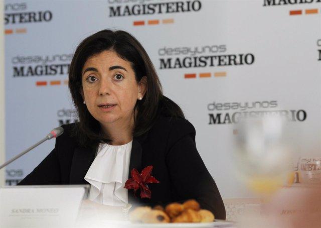 Sandra Moneo En El Desayuno Magisterio