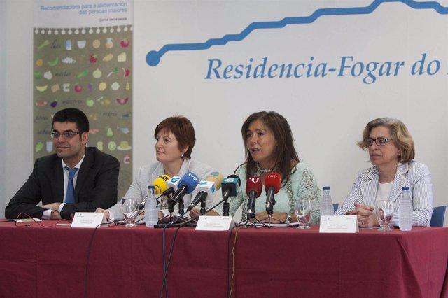 A conselleira de Sanidade, Rocío Mosquera, e a titular de Traballo e Benestar, B