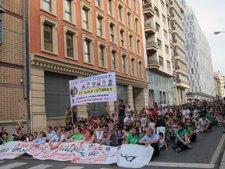 Manifestación En Pamplona Contra Los Recortes Educativos.