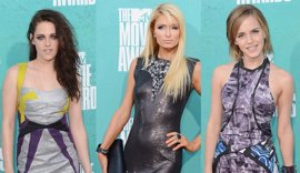 Kristen Stewart, Paris Hilton y Emma Watson, estética punk en los MTV Movie Awards