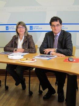 La Conselleira De Medio Rural, Rosa Quintana, Junto Al Secretario Xeral