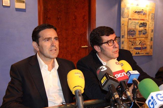 El Dirigente Deportivo Josep Delgado Y Su Abogado, Carles Monguilod (ARCHIVO)