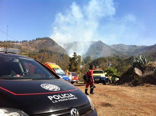 Foto Del Incendio De San Mateo