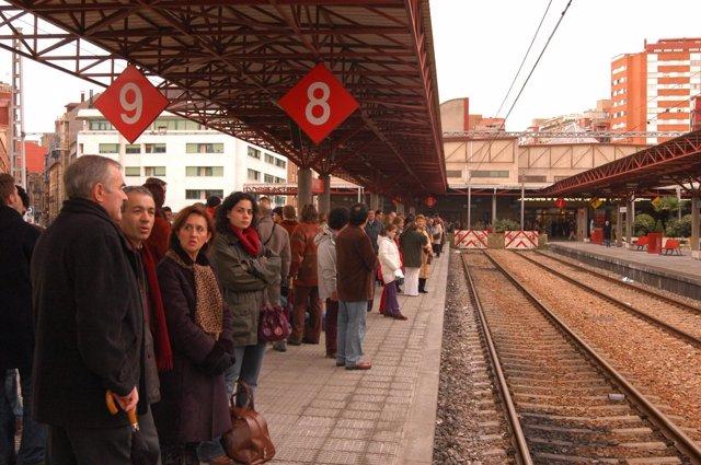 Viajeros en tren