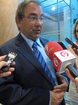 El Conseller De Sanidad, Luis Rosado, Atiende A Los Periodistas.