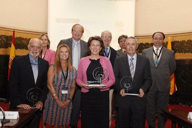 Imagen De Los Premiados Tras La Ceremonia Celebrada En La RANM