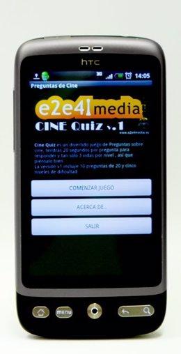 Un 'Smartphone' Con La Aplicación 'Cine Quiz'