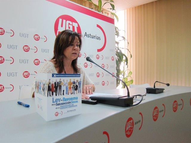 Esther Alonso, Durante Su Rueda De Prensa.
