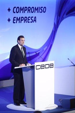 Mariano Rajoy Clausura La Asamblea De La CEOE