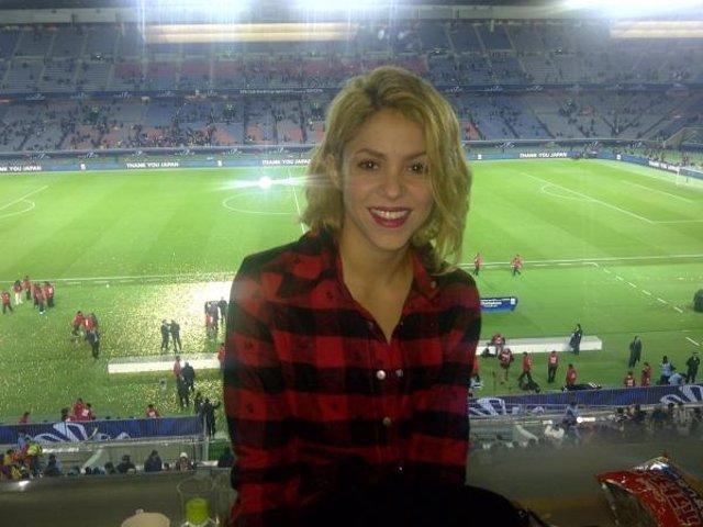 Shakira En El Estadio De Japón Viendo Al Barça