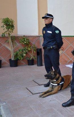 Perro Policía y agente