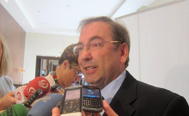 El Conseller De Sanidad, Luis Rosado, Atiende A Los Medios