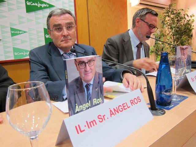 El Alcalde De Lleida, Àngel Ros, Y El Periodista Ignasi Calvo