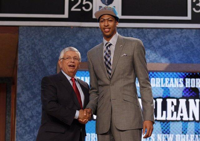 Anthony Davis Draft NBA 2012 David Stern