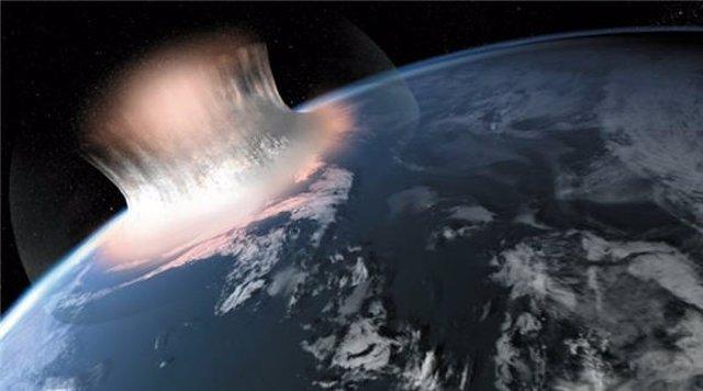 Recreación Artística Del Impacto Del Asteroide