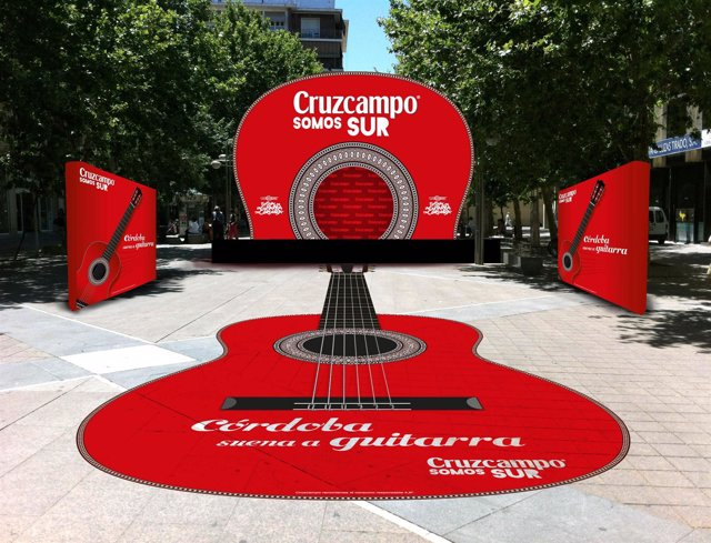 Boceto De La Escenografia De La Guitarra Interactiva Gigante