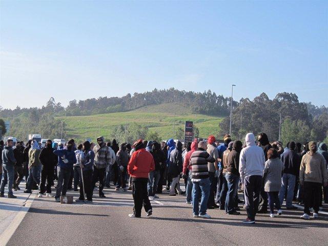 Protesta De Mineros