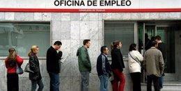 Cola En Una Oficina De Desempleo