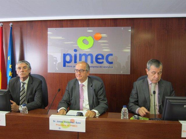 Luis Buil, Josep González y  Modest Guinjoan presentan el Informe Pimec 2012