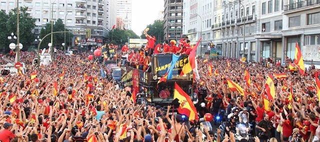 Celebración de la Roja