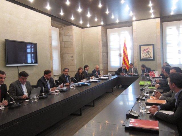 Cumbre Sobre El Pacto Fiscal En Barcelona